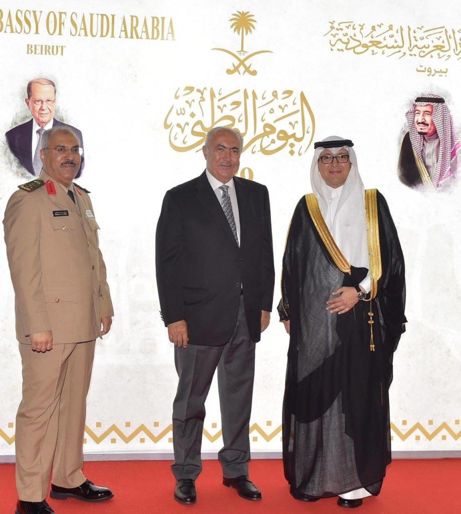 فؤاد مخزومي والسفير وليد البخاري