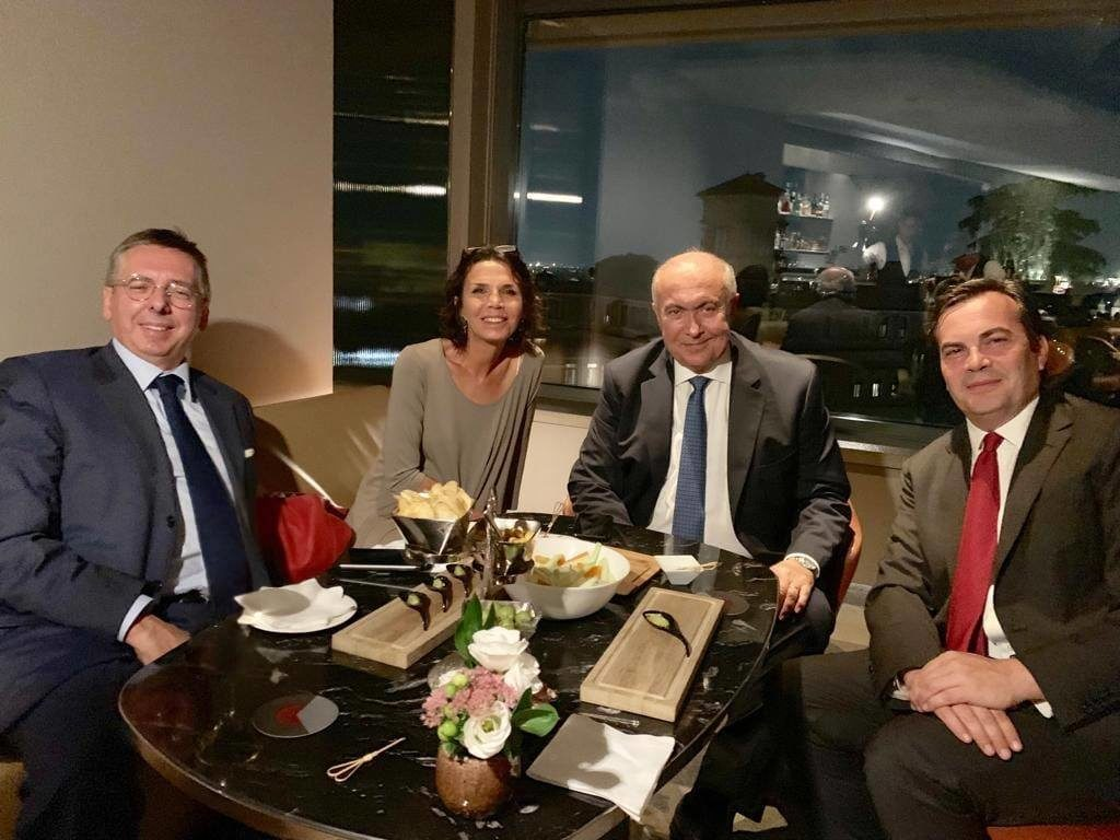 فؤاد مخزومي و وزير الشؤون الأوروبية فينتشينزو أمندولا