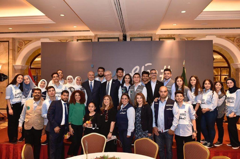 فؤاد مخزومي خلال الافطار السنوي لجمعية المقاصد الخيرية