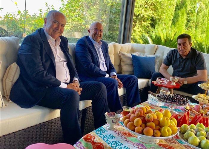 فؤاد مخزومي و رئيس مجلس النواب الأردني المهندس عاطف الطراونة