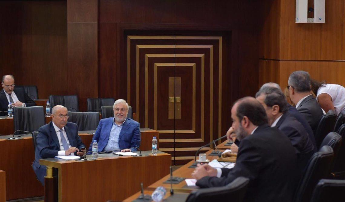 فؤاد مخزومي خلال اجتماع اللجان المشتركة النيابية