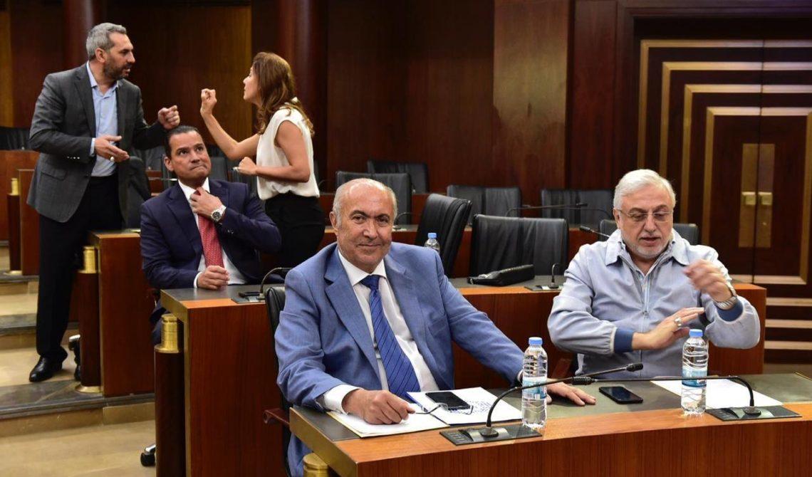 فؤاد مخزومي خلال اجتماع اللجان المشتركة