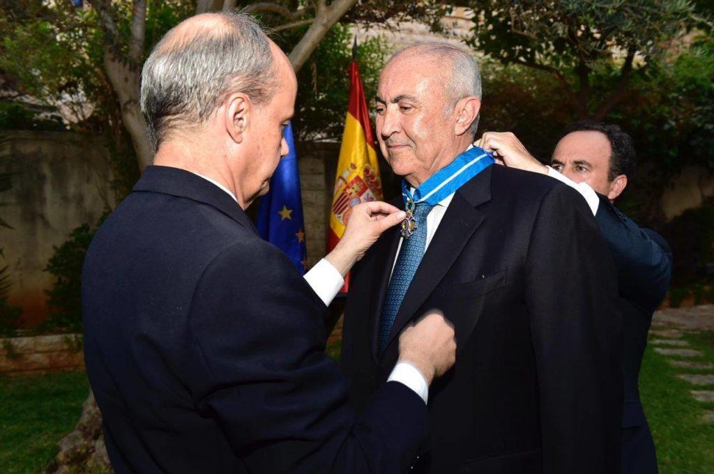الاحتفال التكريمي للنائب فؤاد مخزومي الذي رعاه سفير اسبانيا خوسيه ماريا فيريه ديلا بينا في السفارة