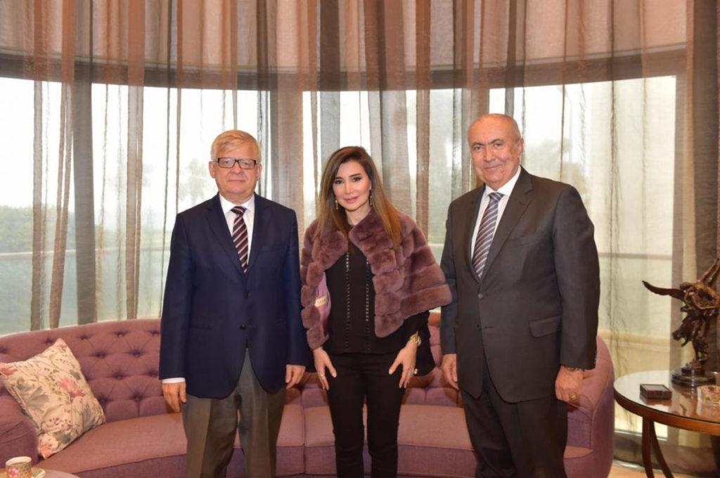 فؤاد مخزومي و السفير الروسي ألكسندر زاسبكين