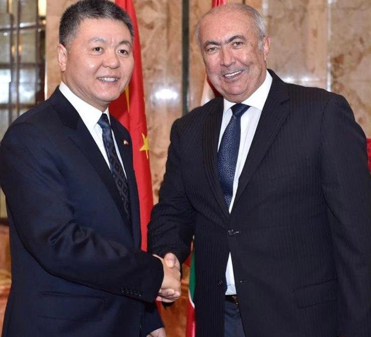 فؤاد مخزومي و سفير الصين في لبنان وانغ كيجيان