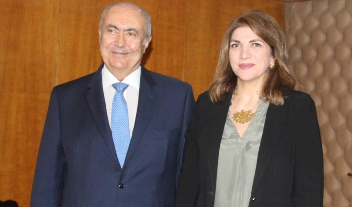 فؤاد مخزومي و وزيرة العدل ماري كلود نجم