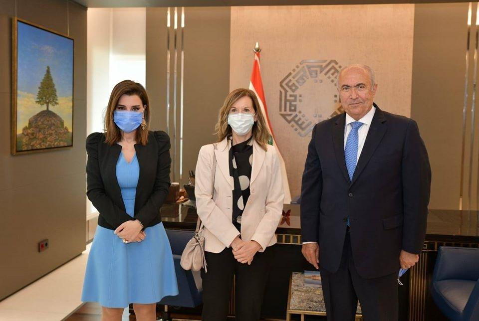 فؤاد مخزومي وسفيرة ايطاليا السيدة نيكوليتا بومباردير