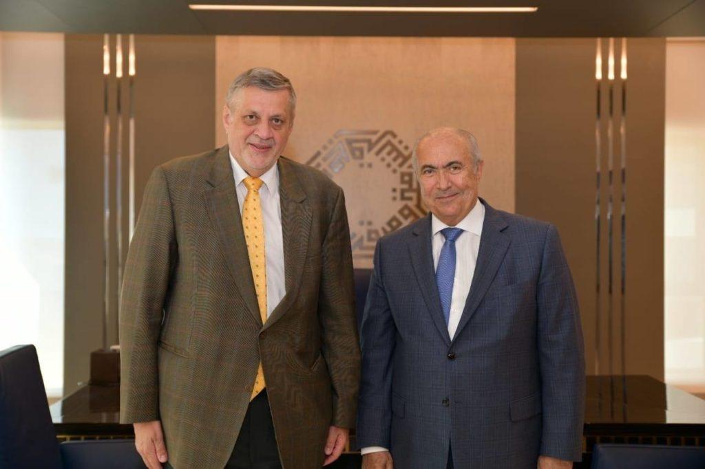 فؤاد مخزومي والمنسق الخاص للامم المتحدة في لبنان السيد يان كوبيش