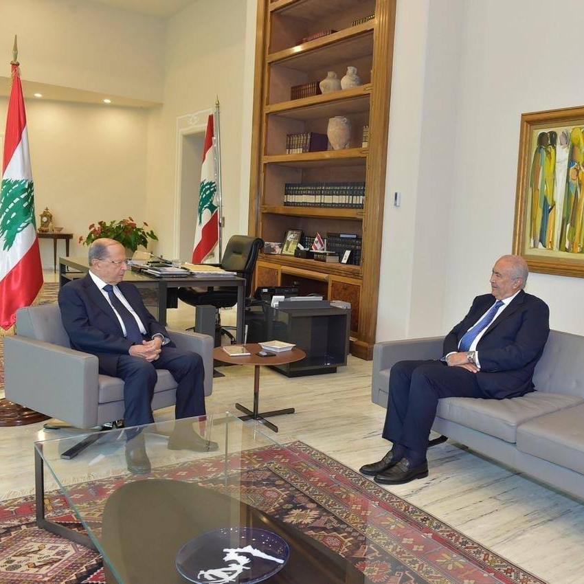 Fouad Makhzoumi and President Michel Oun
