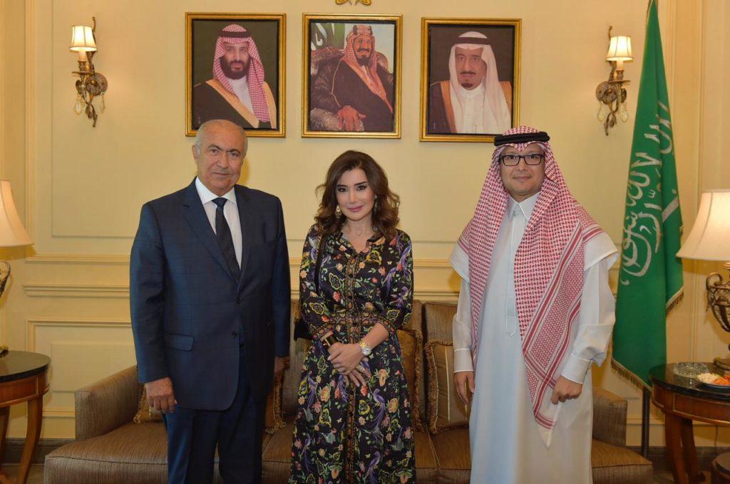 فؤاد مخزومي و السفير وليد بن عبد الله بخاري